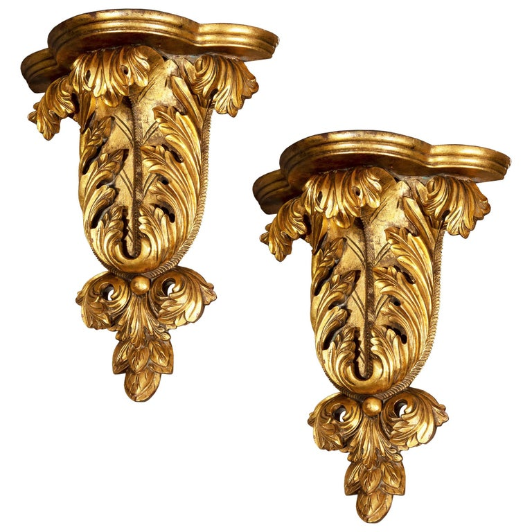 Pair of Antique Style Wall Brackets or Sconces