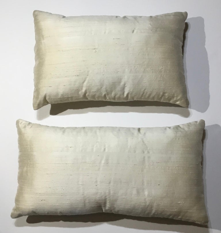 Pair of Antique Suzani Pillows For Sale 4