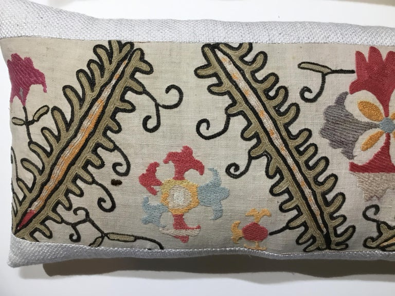 Early 20th Century Pair of Antique Suzani Pillows For Sale