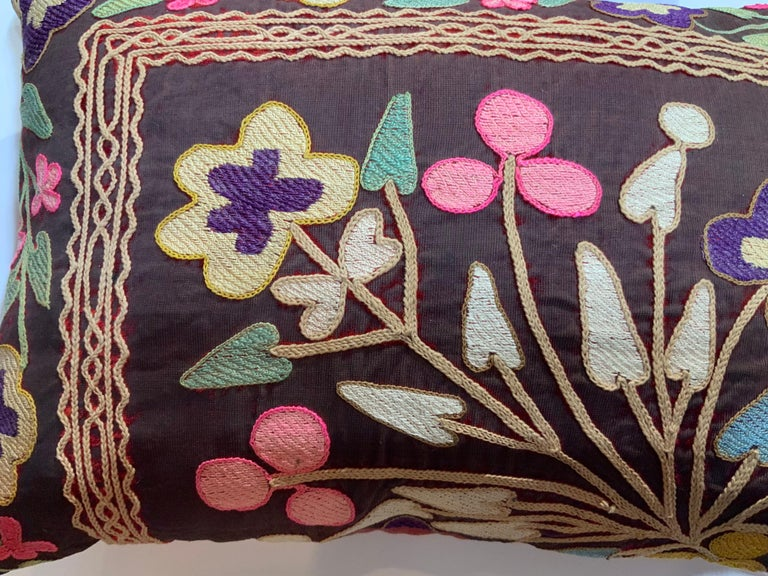 Pair of Antique Suzani Pillows For Sale 2