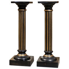 Pair of Antique Swedish Neoclassical Late Empire Pedestals