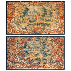Pair of Antique Tapestry Rug