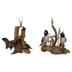 Pair of Antique Taxidermy Table Lamps
