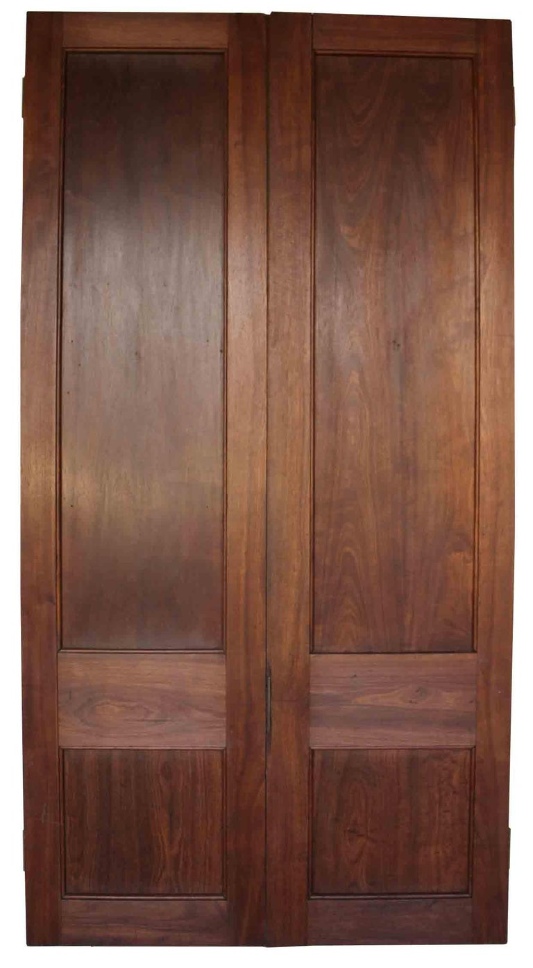 English Pair of Antique Teak Double Doors For Sale