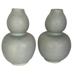 Pair of Antique Tibetan Gourd Vases