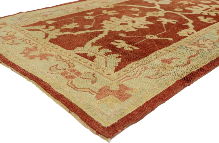 Hand-Knotted Pair of Antique Turkish Oushak Runners, Extra-Long Hallway Runners For Sale