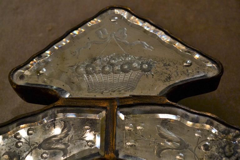 20th Century Pair of Antique Venetian Glass Sconces For Sale