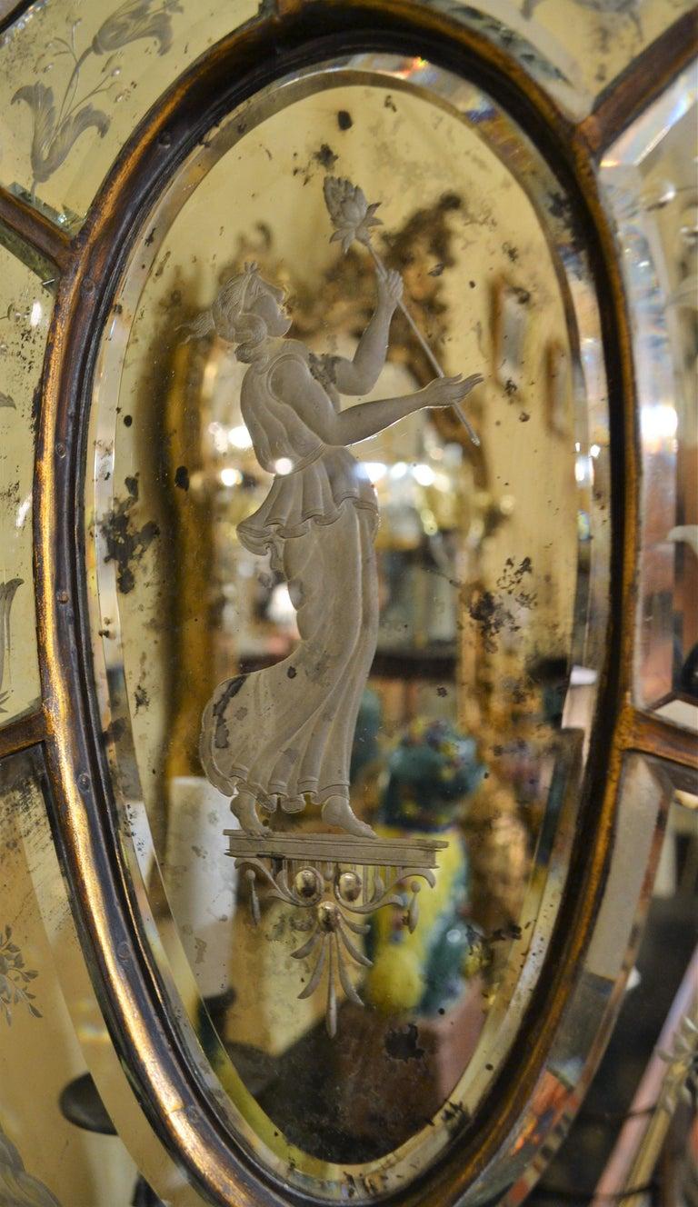 Pair of Antique Venetian Glass Sconces For Sale 2