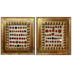 Pair of Antique Wax Seal Collections Framed
