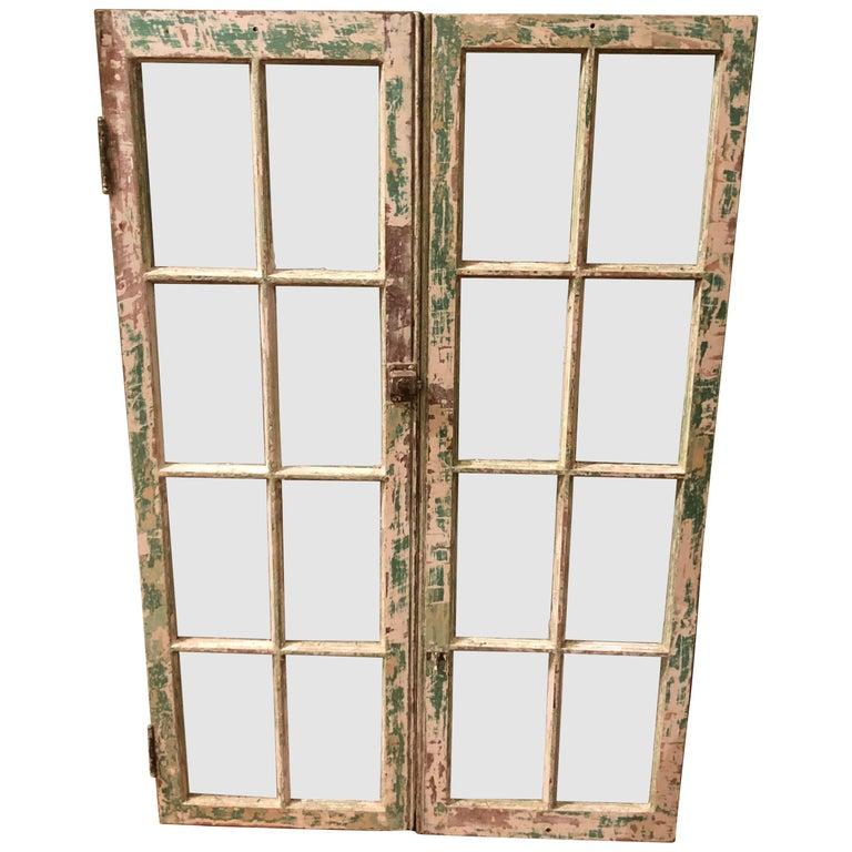 Pair of Antique Windows For Sale