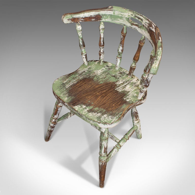 Pair of Antique Windsor Chairs, French, Beech, Bow Back Chair, Late 19th Century For Sale 5