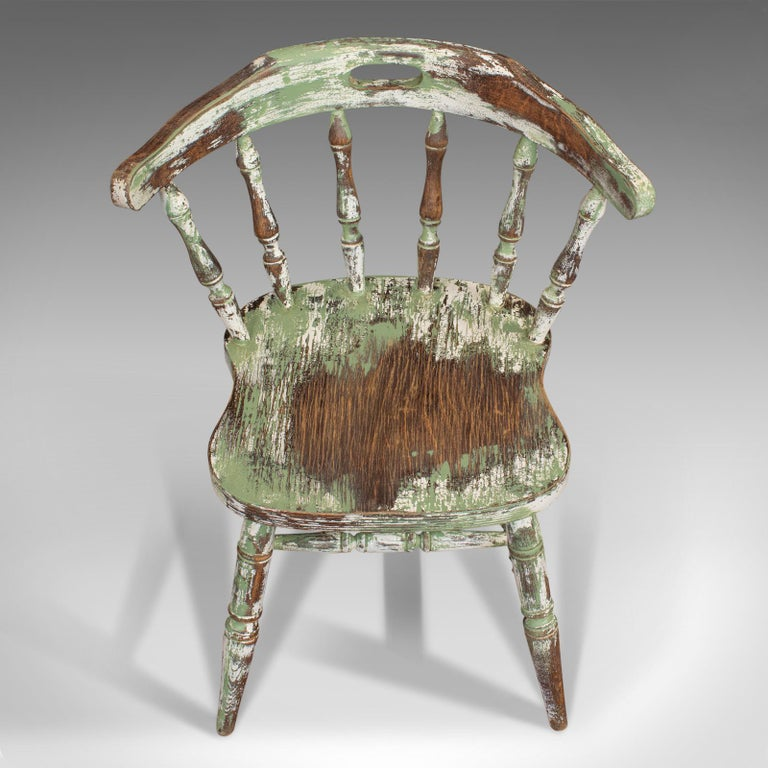Pair of Antique Windsor Chairs, French, Beech, Bow Back Chair, Late 19th Century For Sale 6