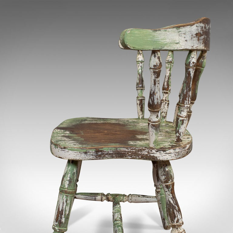 Pair of Antique Windsor Chairs, French, Beech, Bow Back Chair, Late 19th Century For Sale 7