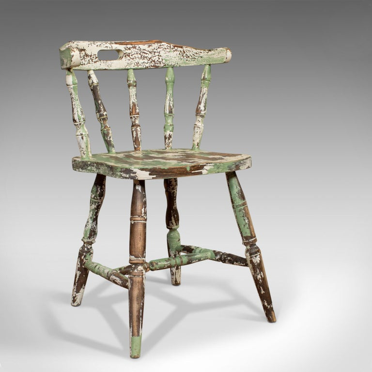 Pair of Antique Windsor Chairs, French, Beech, Bow Back Chair, Late 19th Century For Sale 2