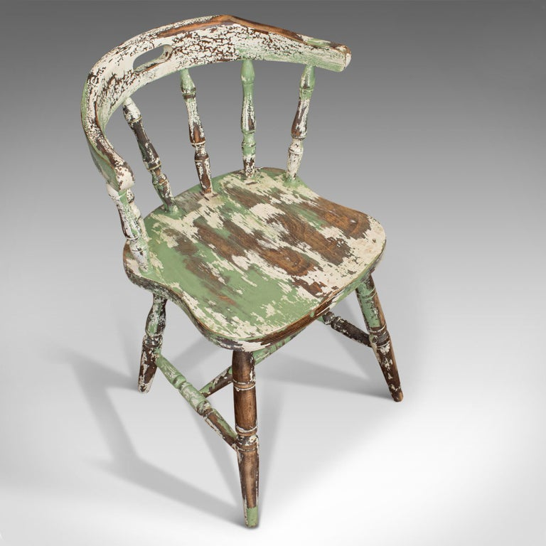 Pair of Antique Windsor Chairs, French, Beech, Bow Back Chair, Late 19th Century For Sale 3
