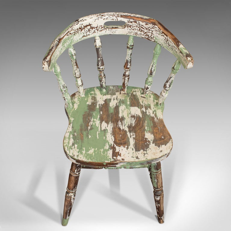 Pair of Antique Windsor Chairs, French, Beech, Bow Back Chair, Late 19th Century For Sale 4