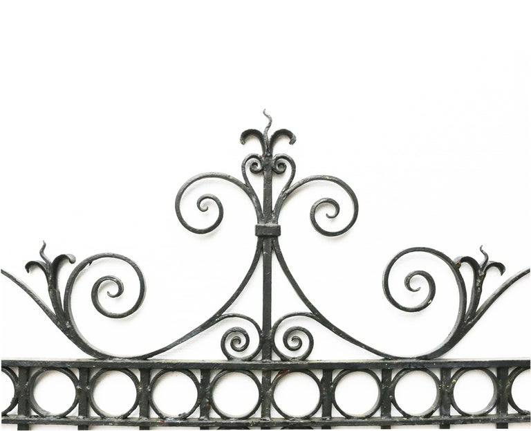 Pair of Antique Wrought Iron Driveway Gates For Sale 1