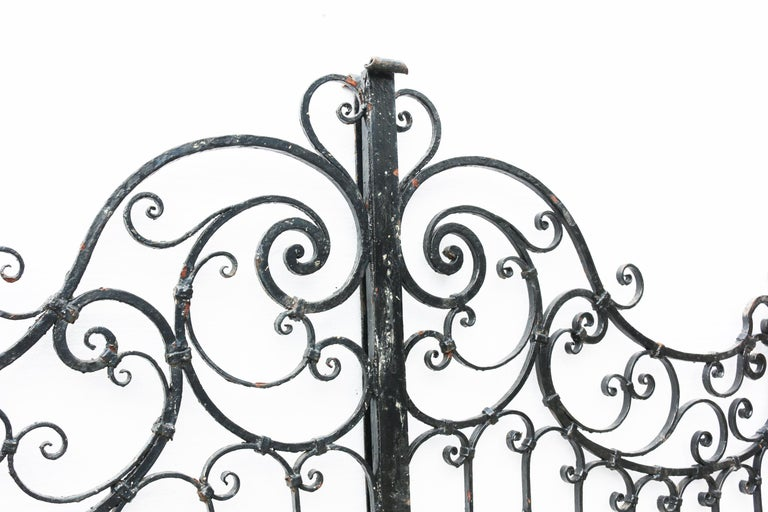 Victorian Pair of Antique Wrought Iron Gates For Sale