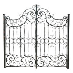 Pair of Antique Wrought Iron Gates