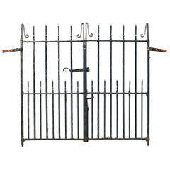 Pair of Antique Wrought Iron Pedestrian Garden Gates