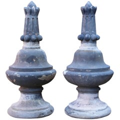 Pair of Antique Yorkstone Finials