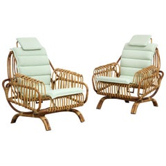 "Pair of ""Antonietta"" Armchairs by Giovanni Travasa"