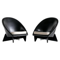 Pair of Antti Nurmesniemi Lounge Chairs Designed for Hotel Palace, Finland, 1952