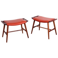 Pair of AP-30 Piano Stools by Hans Wegner