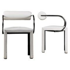 Pair of Arcadia Chairs by Paolo Piva for B&B Italia in White Leather
