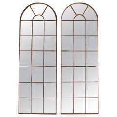 Pair of Arched Window Mirrors