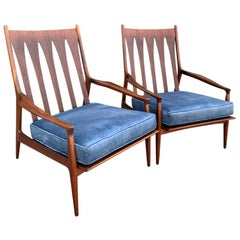 Pair of Archie Lounge Chairs by Milo Baughman for Thayer Coggin