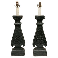 Pair of Architectural Element Lamps