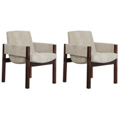 """Pair of """"Arco"""" Armchairs, by Sérgio Rodrigues, 1960, Jacaranda Rosewood"""