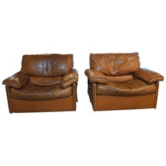 Pair of Arcon Leather Armchairs, 1970