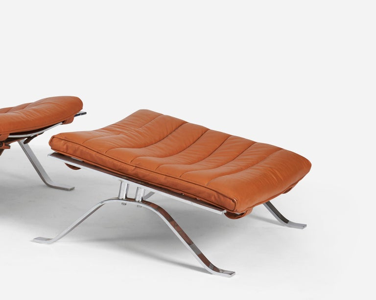 Late 20th Century Pair of Ari Chairs by Arne Norell, Sweden, 1970s For Sale