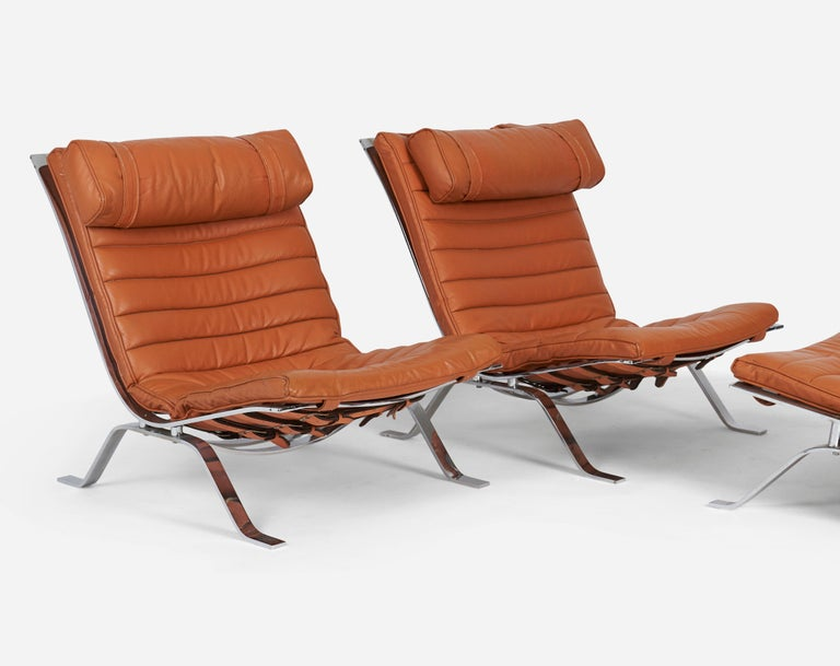 Pair of Ari Chairs by Arne Norell, Sweden, 1970s For Sale 1