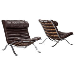 Pair of 'Ari' Lounge Chairs by Arne Norell