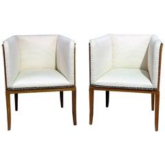 Pair of Arkitektura Mid-Century Modern Club Chairs