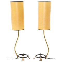 Pair of Arlus brass Table Lamps