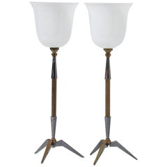 Pair of Arlus Table Lamps, France, 1960s