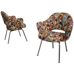 Pair of Armchairs by Eero Saarinen for Knoll with New Upholstery, USA circa 1960