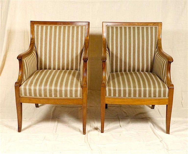 Scandinavian Modern Pair of Armchairs by Frits Henningsen For Sale