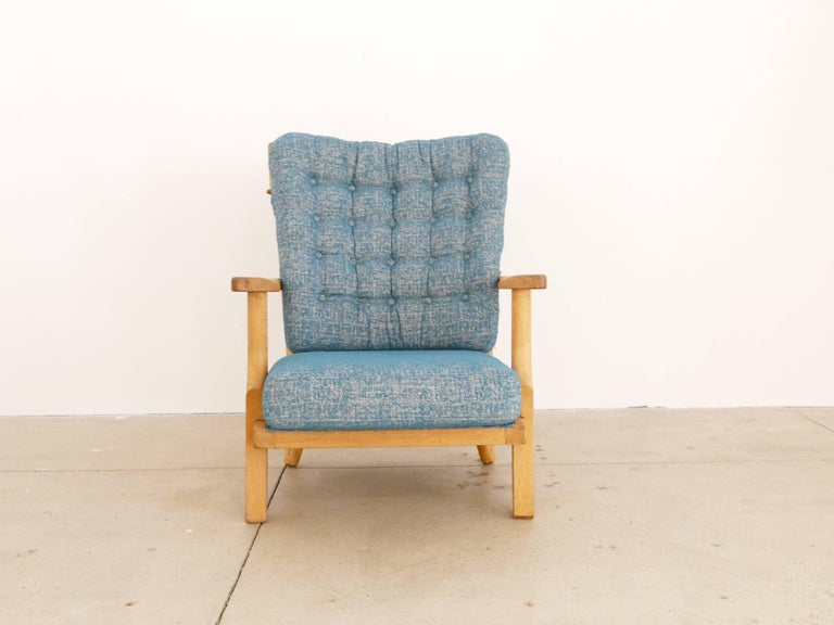 French Pair of Armchairs by Guillerme et Chambron For Sale