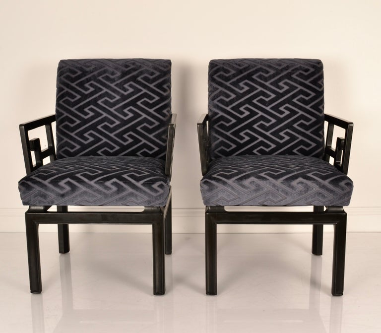 Mid-Century Modern Pair of Armchairs by Michael Taylor for Baker Far East Collection For Sale