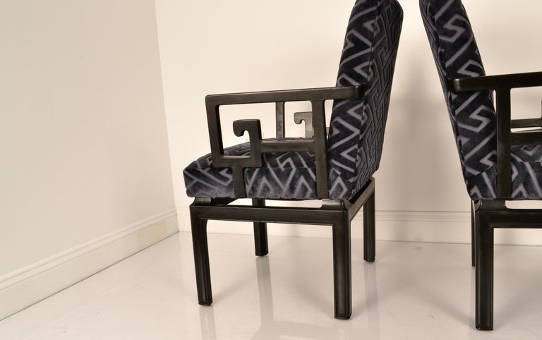 American Pair of Armchairs by Michael Taylor for Baker Far East Collection For Sale