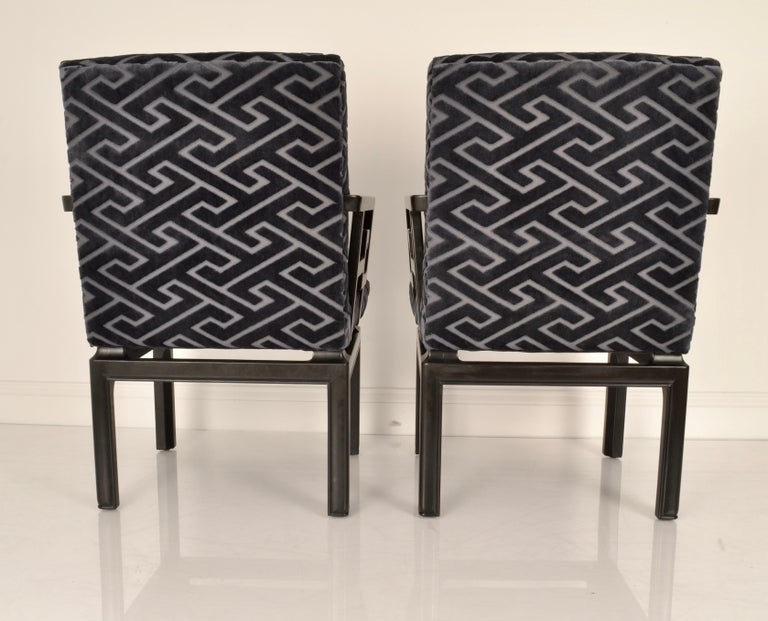 Mid-20th Century Pair of Armchairs by Michael Taylor for Baker Far East Collection For Sale