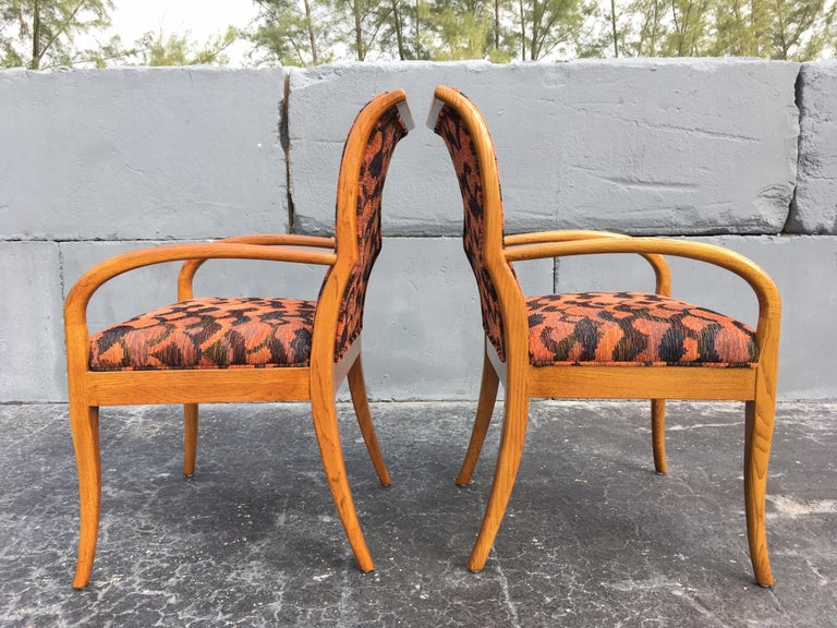 Late 20th Century Pair of Armchairs in the Style of Robsjohn-Gibbings For Sale