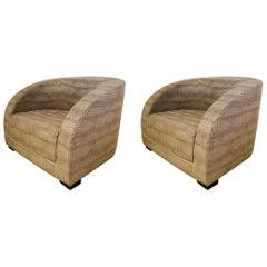 Pair of Armani Casa Club Chairs