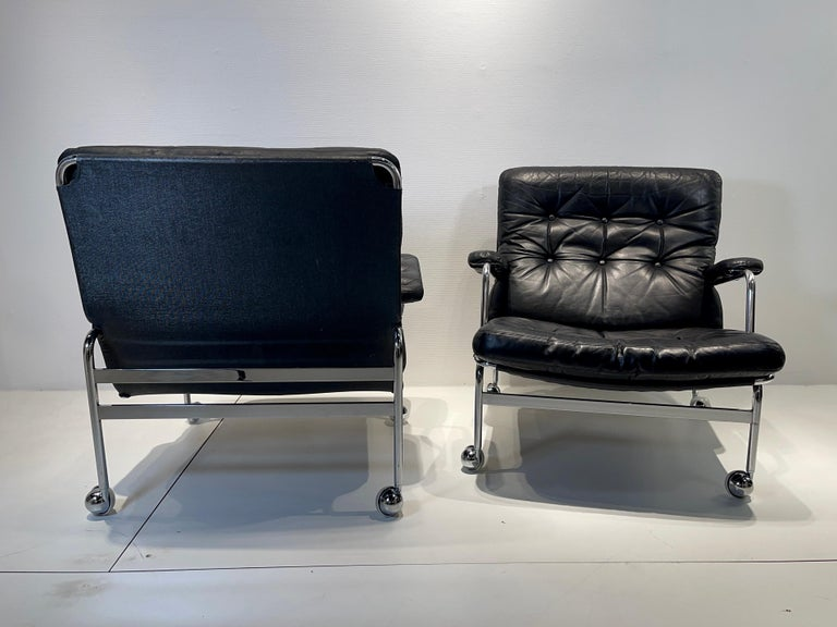 Pair of armchair by Bruno Mathsson for Dux Model Karin, Circa 1970 in very good conditions.