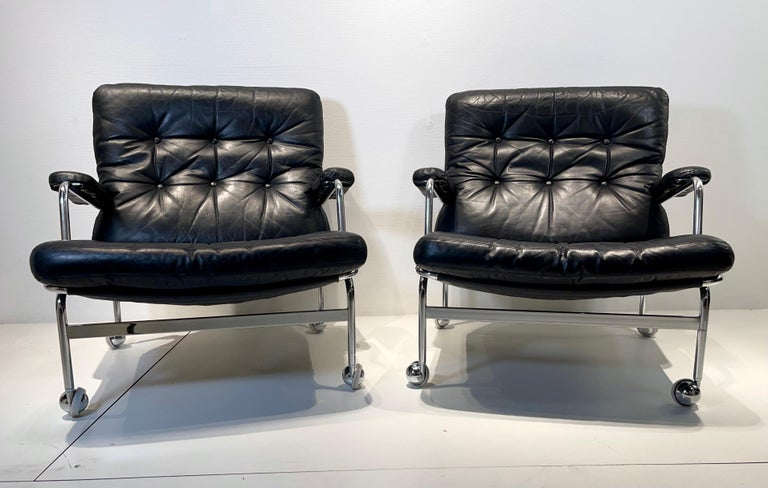 Swedish Pair of Armchair by Bruno Mathsson For Sale